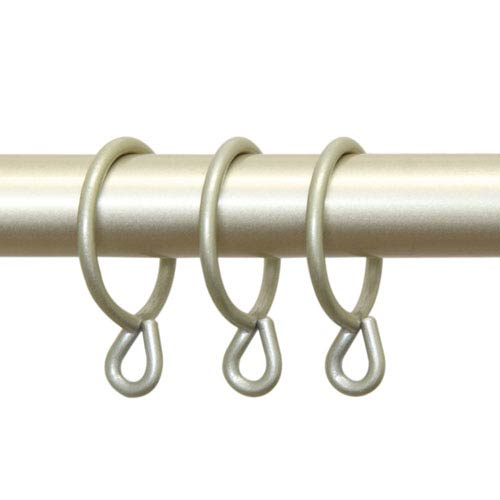 Light Gold 10 Curtain Rings With Eyelet 1-3/8 Inch Curtain