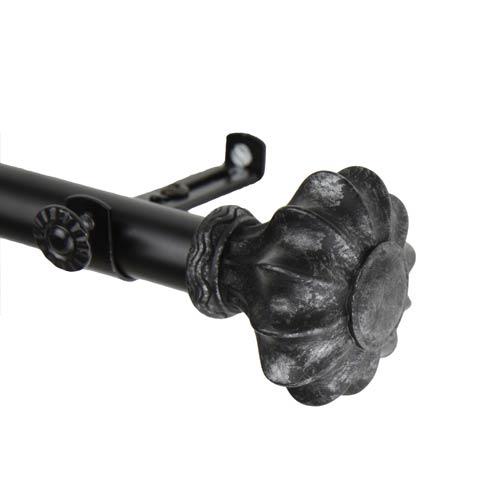 Flair Black 48 to 84-Inch Curtain Rod