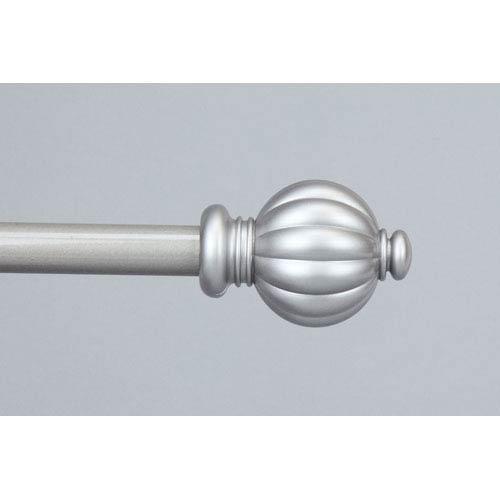 Rod Desyne Classic Satin Nickel 48 to 84 Inch Pumpkin Curtain Rod