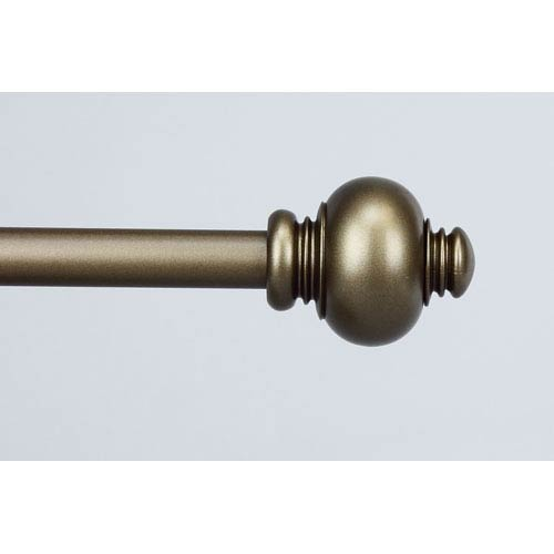 Rod Desyne Classic Antique Gold 28 to 48 Inch Knob Curtain Rod