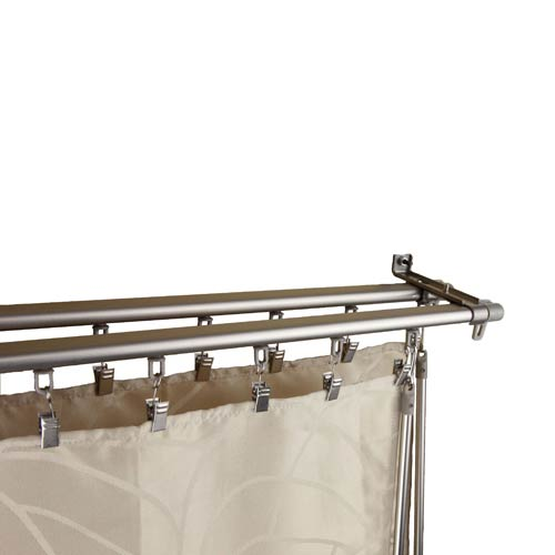 Regal Silver 66 to 120-Inch Double Curtain Track