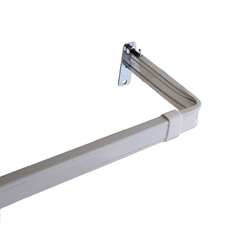 Rod Desyne Lockseam White 28 to 48-Inch Curtain Rod with 3-Inch Projection