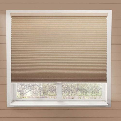 Chicology Beige 36-Inch x 84-Inch Cordless Cellular Shade