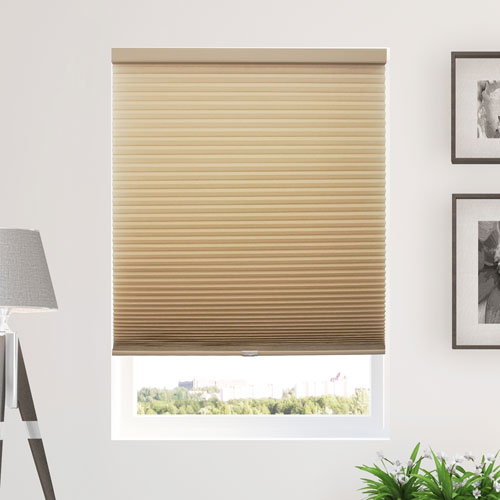 Chicology Morning Croissant 30 x 48 In. Cordless Cellular Shades