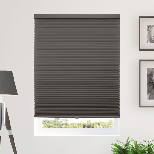 Morning Fog 64 x 30 In. Honeycomb Cell Cordless Cellular Shades