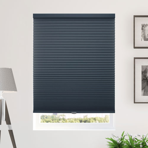 Morning Ocean 64 x 30 In. Honeycomb Cell Blackout Cordless Cellular Shades