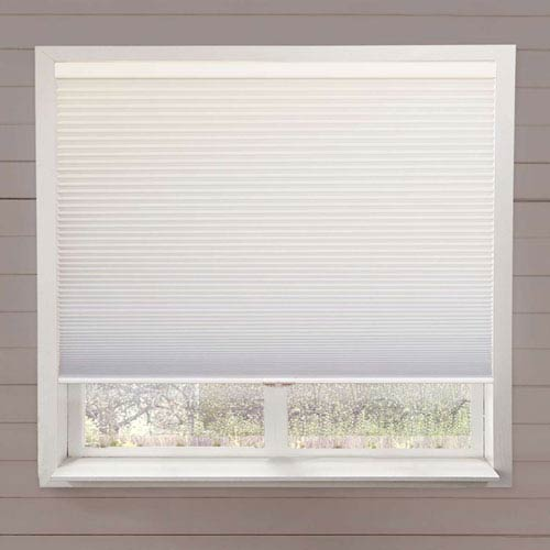 Chicology White 64-Inch x 64-Inch Complete Blackout Cordless Cellular Shade