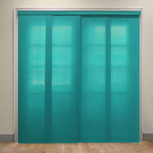 Allure Ultramarine 52-80 In. x 90 In. Adjustable Sliding Panel