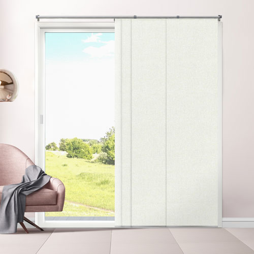 Eclipse Porcelain Room Darkening 96 x 80 In. Adjustable Sliding Panels