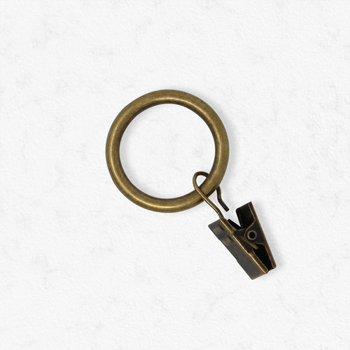 Essential Antique Brass .75 In. Clip Rings, Set of 12