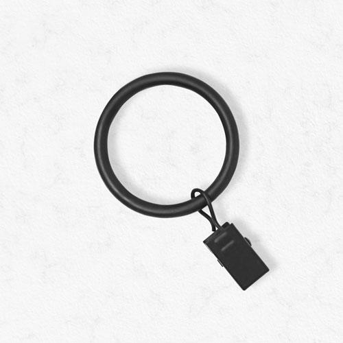 Essential Black 1 1/8 In. Clip Rings, Set of 12
