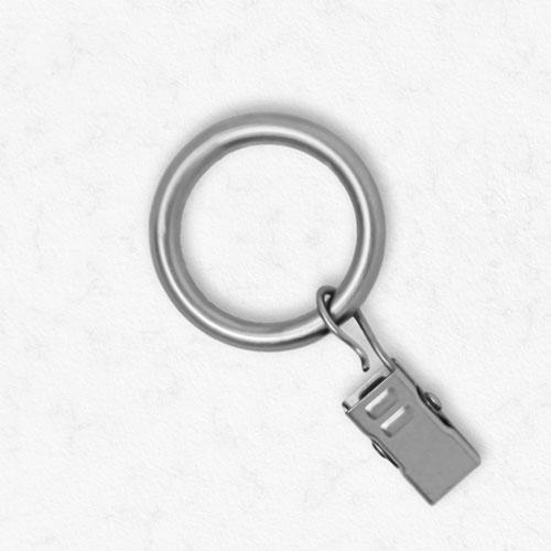 Essential Satin Nickel .75 In. Clip Rings, Set of 12