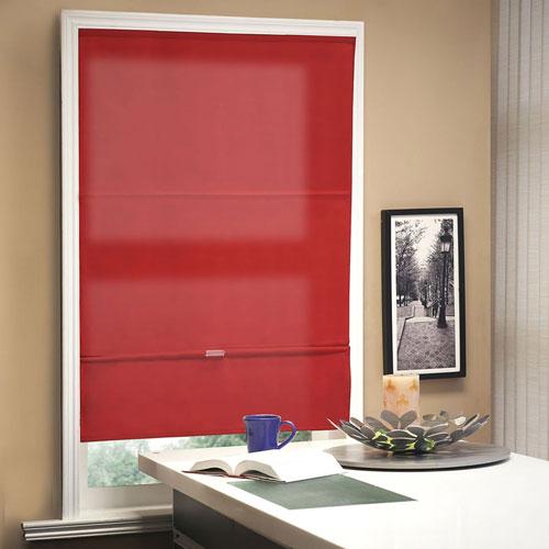Allure Crimson 48 In. x 64 In. Roman Shade