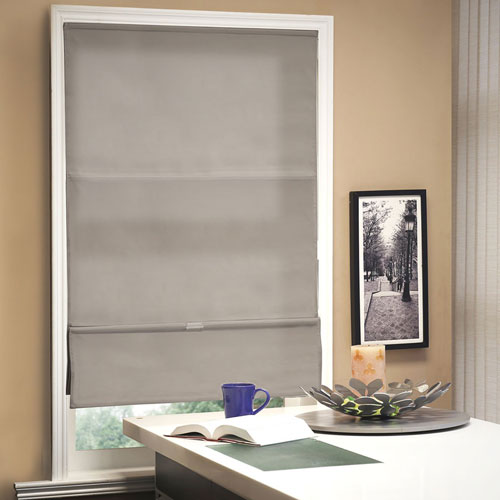 Allure Taupe 36 In. x 64 In. Roman Shade
