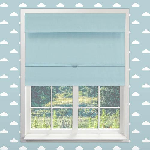 Chicology Cordless Baby Blue 26.5 In. x 64 In. Magnetic Roman Shade