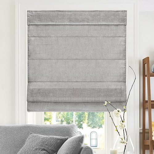 Belgian Denim 64 x 34 In. Cordless Roman Shade