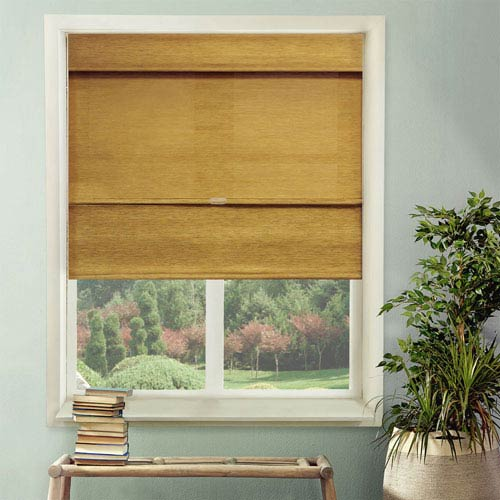 Jamaican Antique Gold 64 x 35-Inch Roman Shade
