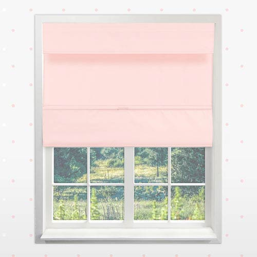 Cordless Rose Pink 35.5 In. x 64 In. Magnetic Roman Shade