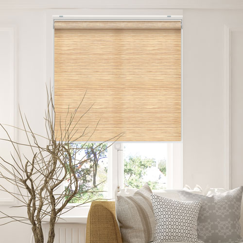 Snap-N-Glide Felton Cream 23 In. W x 72 In. H Cordless Roller Shades