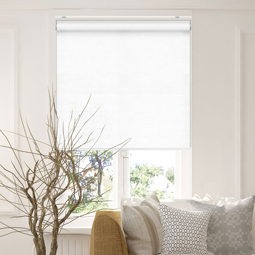 Chicology Snap-N-Glide Felton White 31 In. W x 72 In. H Cordless Roller Shades