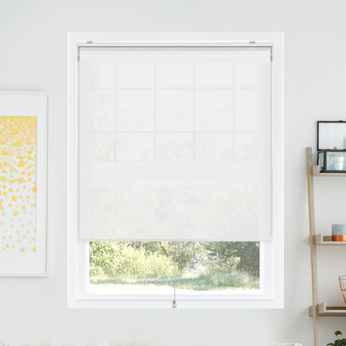 Chicology Snap-N-Glide Sailcloth Tide 33 In. W x 72 In. H Cordless Roller Shades