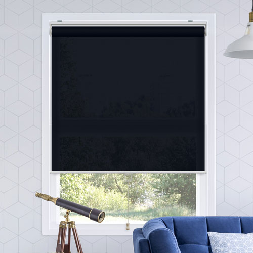 Snap-N-Glide Urban Dark Blue 39 In. W x 72 In. H Cordless Roller Shades