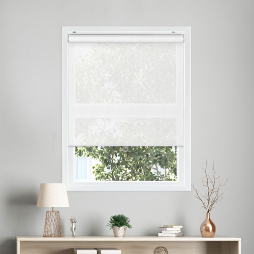 Chicology View-tiful White 72 x 33 In. Snap-N-Glide Cordless Roller Shades