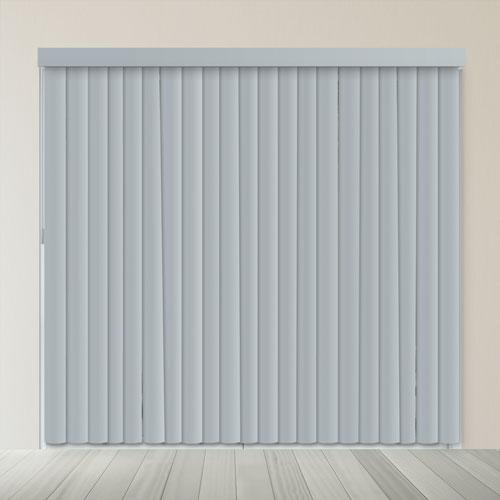 Oxford Gray 84 x 78 In. Cordless Patio Door Vertical Blinds