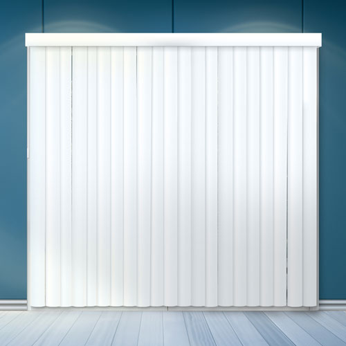 Oxford White 84 x 78 In. Cordless Patio Door Vertical Blinds