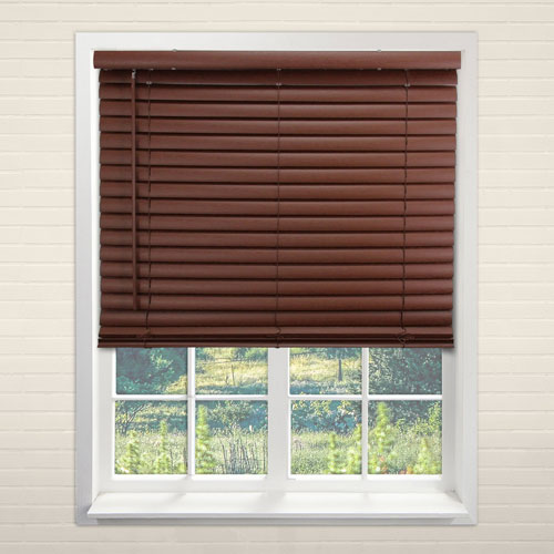 Chicology English Chestnut 72 In. x 64 In. Blinds