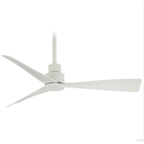 Simple Flat White Ceiling Fan