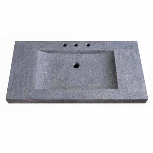 Stone Integrated 43-Inch Dark Gray Sink Top