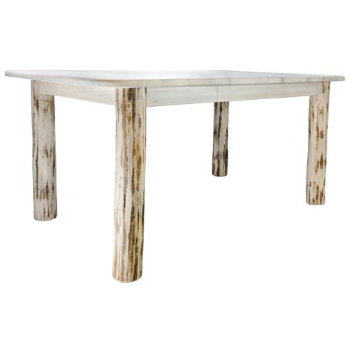 Montana Woodworks Unfinished Four Post Dining Table With Removable Leaves