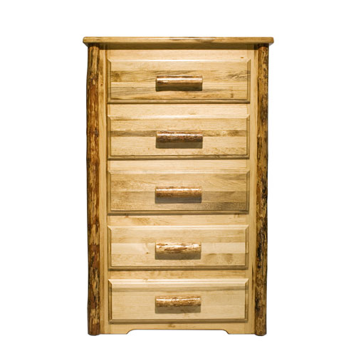 Glacier Country Stained and Lacquered Chest Five Drawer