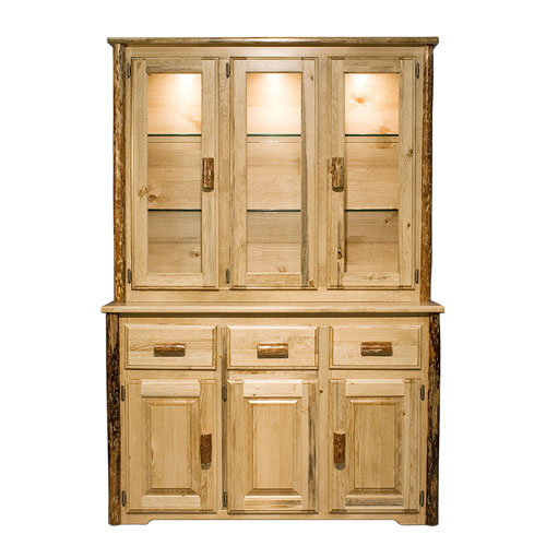 Glacier Country Stained and Lacquered China Hutch