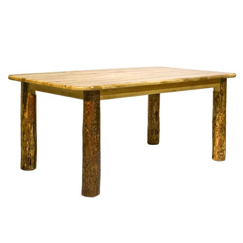 Glacier Country Stained and Lacquered Dining Table Four Post