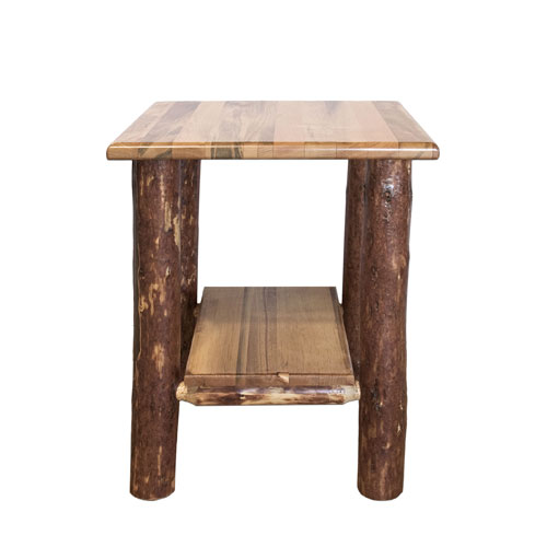 Montana Woodworks    Glacier Country Stained and Lacquered Nightstand w/ Shelf