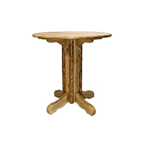 Glacier Country Stained and Lacquered Table Pub