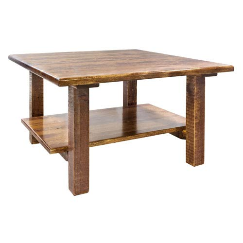 Homestead Stained and Lacquered Cocktail Table