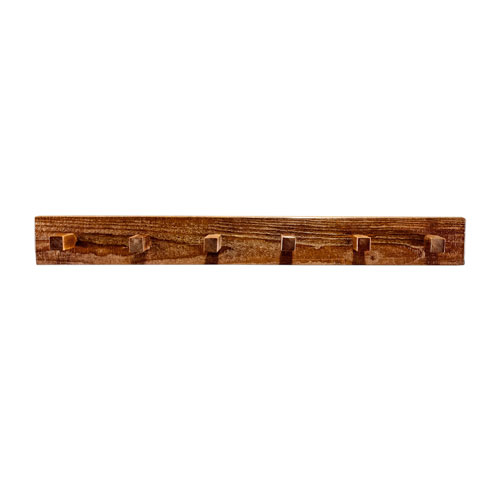 Homestead Stained and Lacquered Coat Rack Four Ft.
