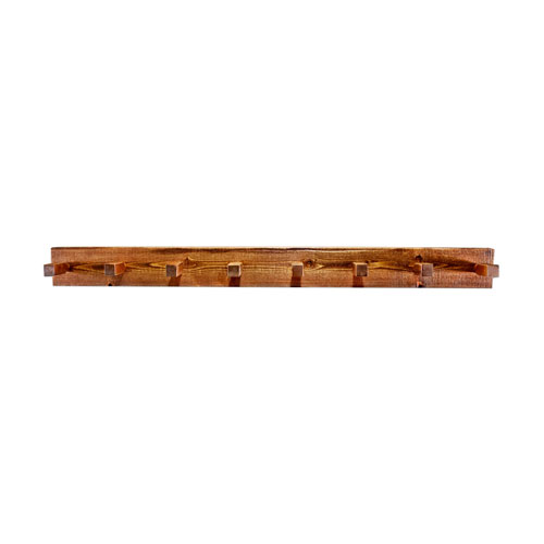 Homestead Stained and Lacquered Coat Rack Five Ft.