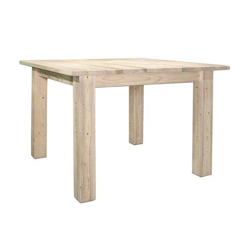 Montana Woodworks    Homestead Unfinished Dining Table Four Post Square