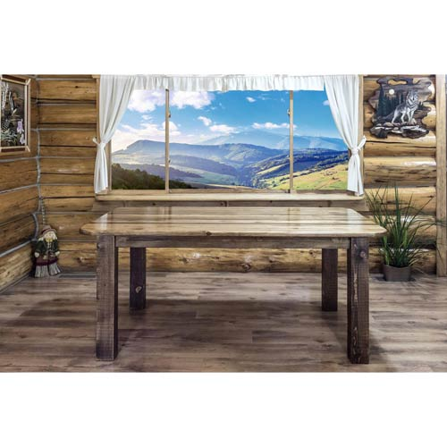 Homestead Stained and Lacquered Dining Table Four Post