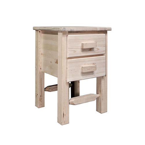 Montana Woodworks    Homestead Unfinished Nightstand w/ Two Drawers