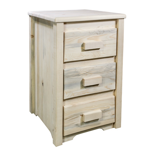 Homestead Unfinished Three Drawer Nightstand