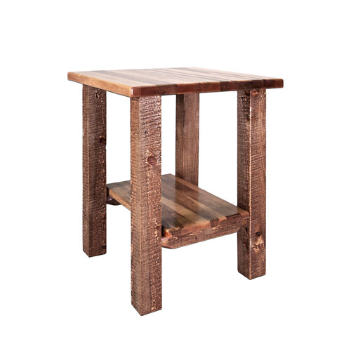 Montana Woodworks    Homestead Stained and Lacquered Nightstand w/ Shelf
