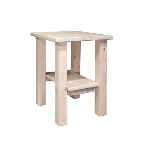 Montana Woodworks    Homestead Lacquered Nightstand w/ Shelf