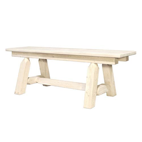 Montana Woodworks    Homestead Unfinished Plank Style Bench, Six Ft.