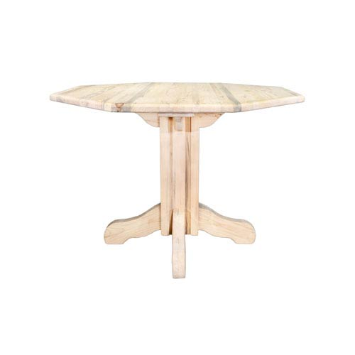 Montana Woodworks    Homestead Unfinished Table, Center Pedestal