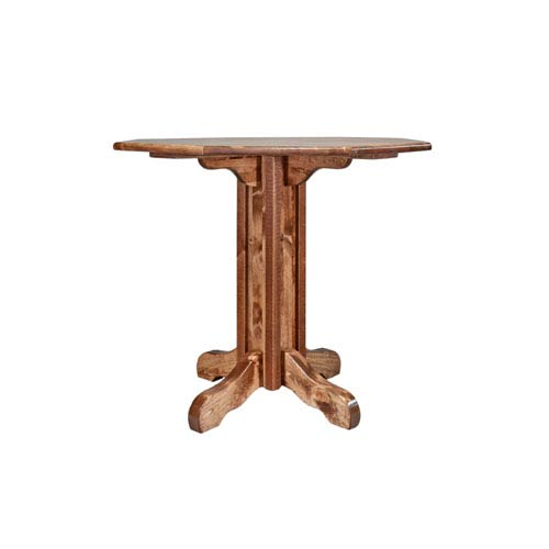 Montana Woodworks    Homestead Stained and Lacquered Table, Pub